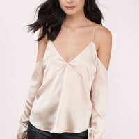 Get Caught Up Cold Shoulder Blouse