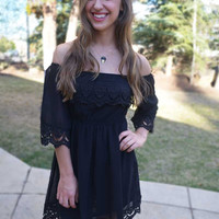 For the Love of Lace Dress - Black