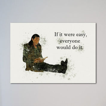 Loki Motivational Quotes Poster  Thor Watercolor Print Motivation Loki Quote If it were easy everyone would do it