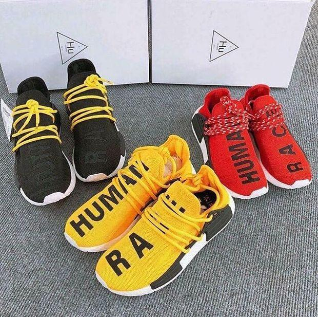 Image of Adidas NMD Human Race Men's and Women's Sneakers Shoes