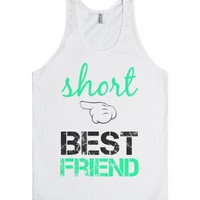 Short Best Friend-Unisex White Tank