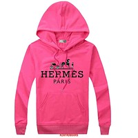 Hermes Women Men  Casual Long Sleeve Top Sweater Hoodie Pullover Sweatshirt