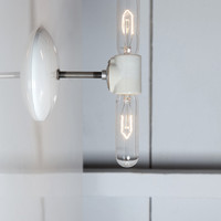 Double Wall Sconce Light - Bare Bulb Lamp