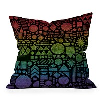 Nick Nelson Modern Elements With Spectrum Throw Pillow