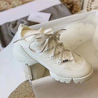 Dior New thick-soled casual all-match increased running sneakers Shoes White