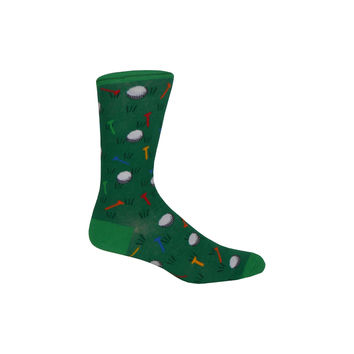 Golfer Crew Socks in Green