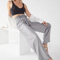 UO Tie-Belt Striped Palazzo Pant | Urban Outfitters