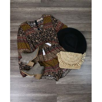 Reverse - That's The One Romper in Brown