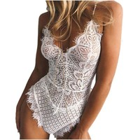 Lace Dress Babydoll Bodysuit