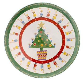 Christopher Radko IT'S CHRISTMAS PLATE Ceramic Christmas Home Holidays Country