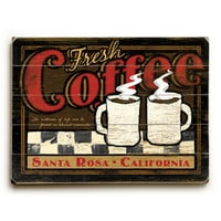 Personalized Fresh Coffee Wood Sign
