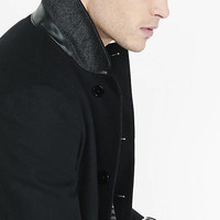 Black Wool Topcoat from EXPRESS