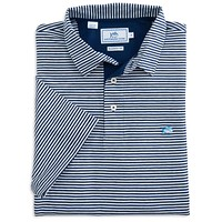 Striped Channel Marker Polo in Blue Depths by Southern Tide