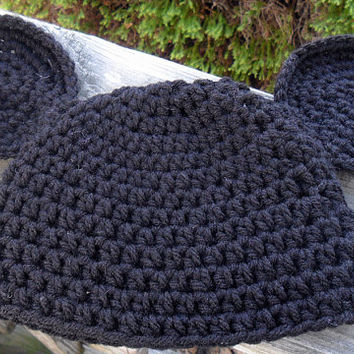 Crocheted Mickey Mouse Ears Beanie- Will Make To Order