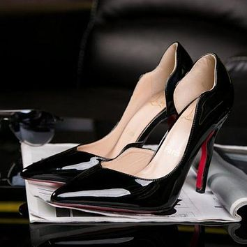Christian Louboutin Trending Ladies Edgy Wave Pointed Heels Shoes I