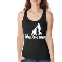The Walking Dad Funny Womens Tank Tops