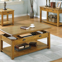 Light Oak Sofa Console Table With Two Drawers