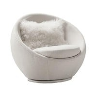 Thayer Coggin Milo Baughman Good Egg Swivel Chair