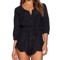 Spell & The Gypsy Collective Casablanca Playsuit in Black