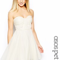 ASOS PETITE Bandeau Dress With Twisted Bodice