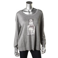 Joie Womens Eloisa Knit Graphic Pullover Sweater