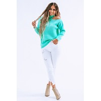 Come On Over Sweater: Turquoise