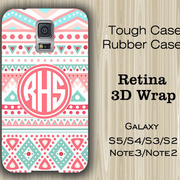 Pink Tribal Monogram Samsung Galaxy S5/S4/S3/Note 3/Note 2 Case