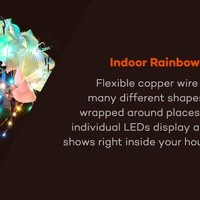TaoTronics Dimmable Color LED String Lights, Outdoor Lights Star Lights with 33 ft Copper Wire