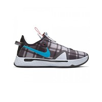 Nike Men's PG 4 Paul George Plaid Football Grey Laser Blue