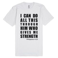 Inspirational Philippians 4:13 (T-Shirt - Black Artwork)-T-Shirt