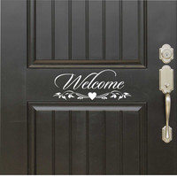 Welcome Door Sign | Vinyl Door Decals | Wall Lettering