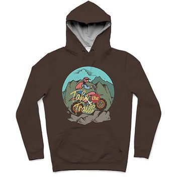 Take The Trails Trendy All-Over Print Solid Tobago Hoodie