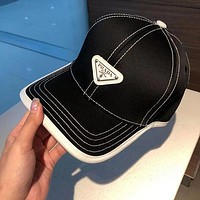 PRADA Embroidered duck tongue hat