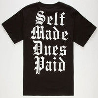 Famous Stars & Straps Wessman Self Made Mens T-Shirt Black  In Sizes