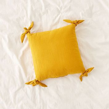 Knotted Ties Throw Pillow   Urban Outfitters