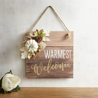 Warmest Welcome Fall Sign