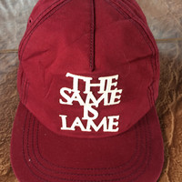 PROMOTION SALE..!! Vintage The Same is Lame I Am Other Are You Other Uniqlo Leather Adjustable Size Hat Cap