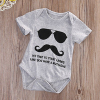 0-18M Newborn Kids Baby Boy Girl Cotton Jumpsuit Bodysuit Outfit Clothes