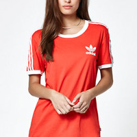 adidas 3-Stripes Crew Neck Ringer T-Shirt at PacSun.com
