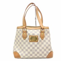 Tagre™ Authentic Louis Vuitton Tote Bag Hampstead PM N51207 Whites Damier Azur 171044