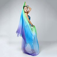 Belly Dancing Veil Gradient Colorful Imitation Silk Soft Shawl Veil 6 colors VU292 NW
