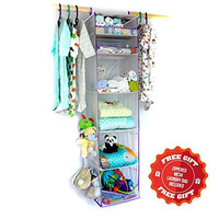 Panda Panache Baby / Kids Nursery Closet Organizer. #1 Best for Organizing Clothing, Essentials and Toys. Great for Shower Gifts!