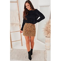 Simply Charming Fuzzy Knit Sweater (Black)