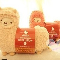 SAVYOU White color Aunt Merry Mokomoko Llama Alpaca Hug Pillow Cushion Doll