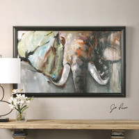 Bull Rush Elephant Art