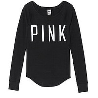 Solid Thermal Sleep Raglan Tee - PINK - Victoria's Secret