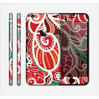 The Abstract Red & Green Vector Pattern Skin for the Apple iPhone 6