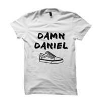 DAMN DANIEL T-SHIRT #DAMNDANIEL LADIES TOPS MENS TEES VINE VIDEOS FUNNY SHIRTS HILARIOUS T-SHIRTS from CELEBRITY COTTON