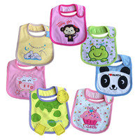1PC/LOT Mixed sales cotton  baby bibs waterproof infant bibs(send by boys' or girls') aTRK0010