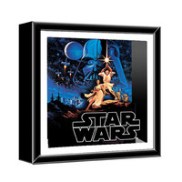 Star Wars Classic Art Wood Shadow Box - Silver Buffalo - Star Wars - Artwork at Entertainment Earth